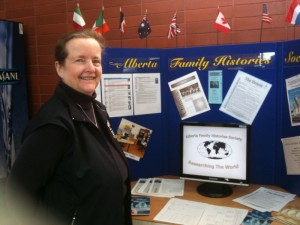 Heather Jaremko manning the AFHS Display