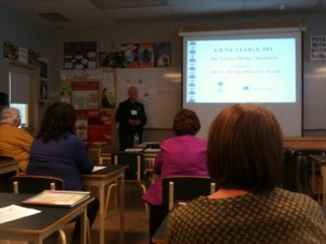 Bill Campbell of AFHS teaching Genealogy 101