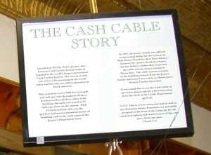 Cash Cable Story Sign Moose Jaw Saskatchewan