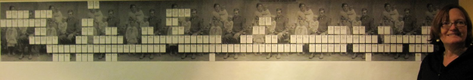 making economical large scale family tree banners