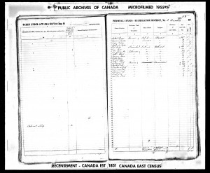 James Kerr 1851 Census Quebec