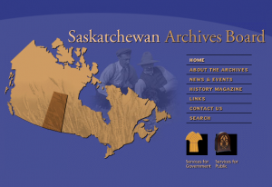 Saskatchewan Archives Website
