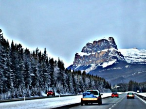 Castle Mountain near Banff, Alberta
