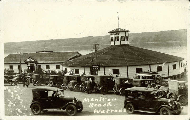Manitou Beach 1920s View of the Arcade Dance Pavilion.