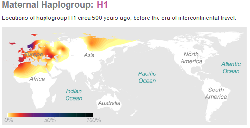 Deep Ancestry - Maternal Haplogroup H1 | Luxegen Genealogy