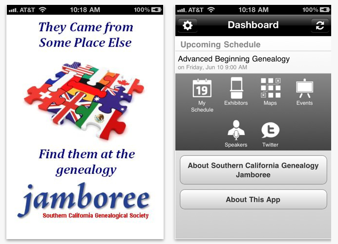 SCGS Jamboree Genealogy Conference App