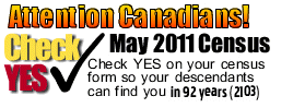 Attention Canadians Check Yes May 2011 Canada Census