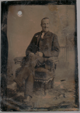 Horace Greeley Hillman - tintype