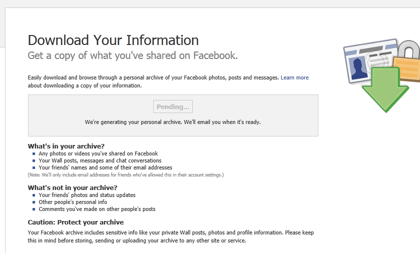 Download Your Facebook Archive