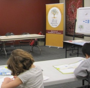 Kids Build a Family Tree Booklet at the Library